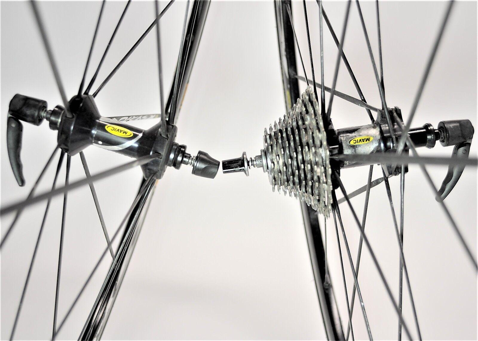 VINTAGE MAVIC KSYRIUM SSC SHIMANO 10 SPEED ROAD BICYCLE 700C WHEEL SET 130 MM