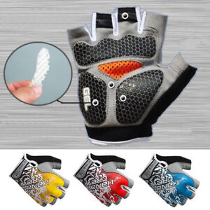 Mountain-Bike-Cycling-Half-Finger-Gel-Pads-Gloves-Bicycle-Riding-Race-Fingerless