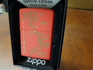 World Map Zippo Lighter. Image is loading VIETNAM MAP WITH DMZ AFTER WAR ZIPPO  LIGHTER MINT IN BOX