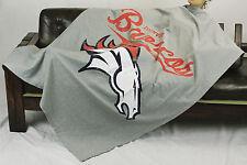 Northwest NFL Football Denver Broncos Sweatshirt Throw Blanket - Grey