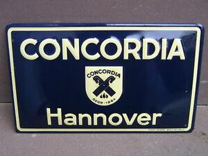 Concordia Hannover Versicherung Blechschild Ebay