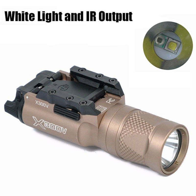 X300V-IR Tactical Light 500 Lumens LED White Light & IR Output Pistol Light