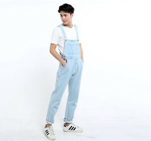 c975ae69cb3 Image is loading HOT-Men-Denim-Dungarees-Suspenders-Trousers-Jumpsuits-Jeans -
