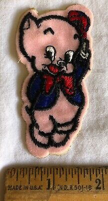 """Vintage Sylvester The Cat Embroidered Patch Looney Tunes Cartoon 3"""" Round"""