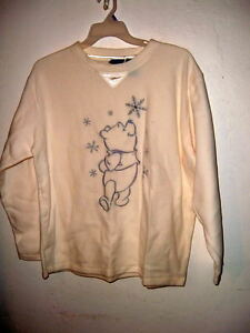 POOH-POLAR-FLEECE-TUNIC-embroidery-FALLING-SNOW-you-pick-L-or-XL