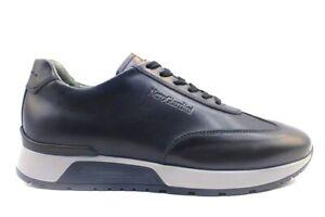 Chaussures pour Hommes Nero Giardini I001724U Baskets Casual en Cuir à Lacets