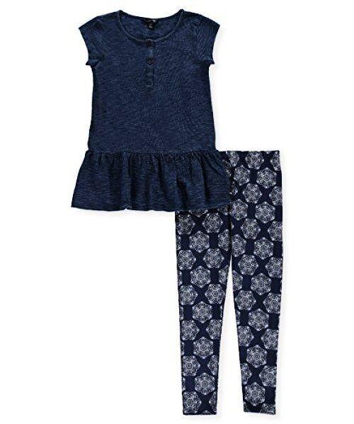 73e5bb21c60c9 Buy Nautica Little Girls' Two Piece Legging Sets - Choose Sz/color ...