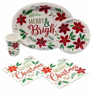 Holiday Christmas Wishes Disposable Paper Plates, Napkins ...