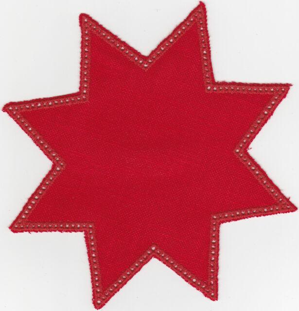 Meran-Anhäkelform Stern ,klein, 20 x 20 cm Fb.Rot - Weihnachtsstern häkeln