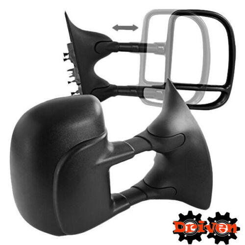 Heated Power Towing Extended Side Mirrors Ford F250 F350 F450 97-07 Super Duty