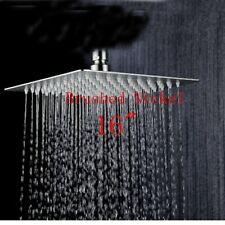 Brushed Nickel 16 Ultrathin Rain Square Shower Head Wall Ceiling Mount Sprayer