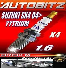 Si ADATTA SUZUKI sx4 1.6 ventricolare R SINCRONIZZATO 2006 > Brisk Candele x4 Yytrium Spedizione veloce