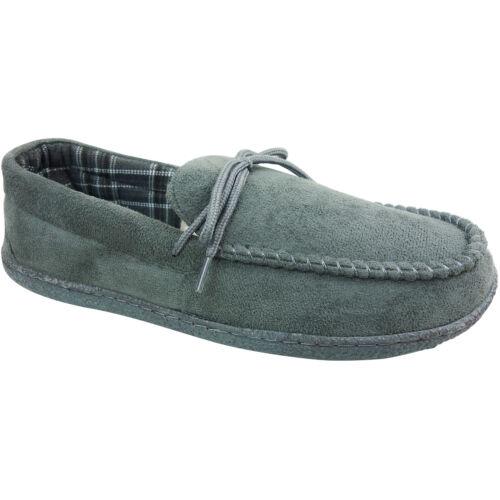 Mens Gents dur semelle Mocassin Mocassins Coton Doublé Chaussons Chaussures Taille