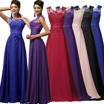 Formal Prom Dress Bridesmaid WEDDING Evening Ball Gowns Party dresses long Maxi