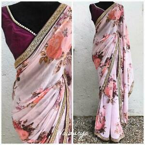 Sari-Saree-Designer-Indian-Wear-Wedding-Pakistani-Blouse-Party-Bollywood-New-AN