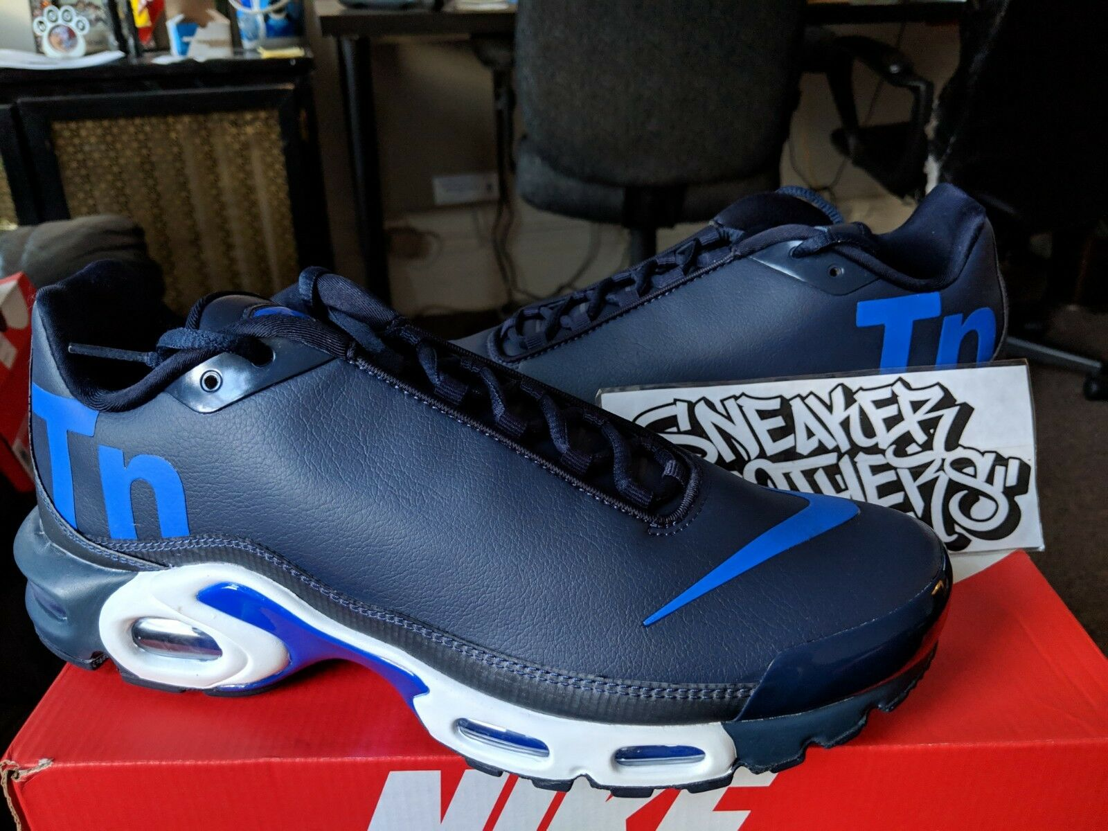 b882fed0654 Nike Air Max Plus Plus Plus TN Mercurial Navy Royal bluee White Running  Men s AQ1088-