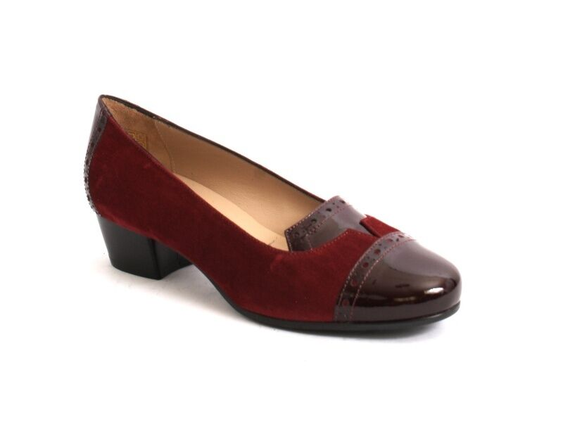 MOT-CLe 5949f Burgundy Suede   Patent Leather Pumps 40   US 10