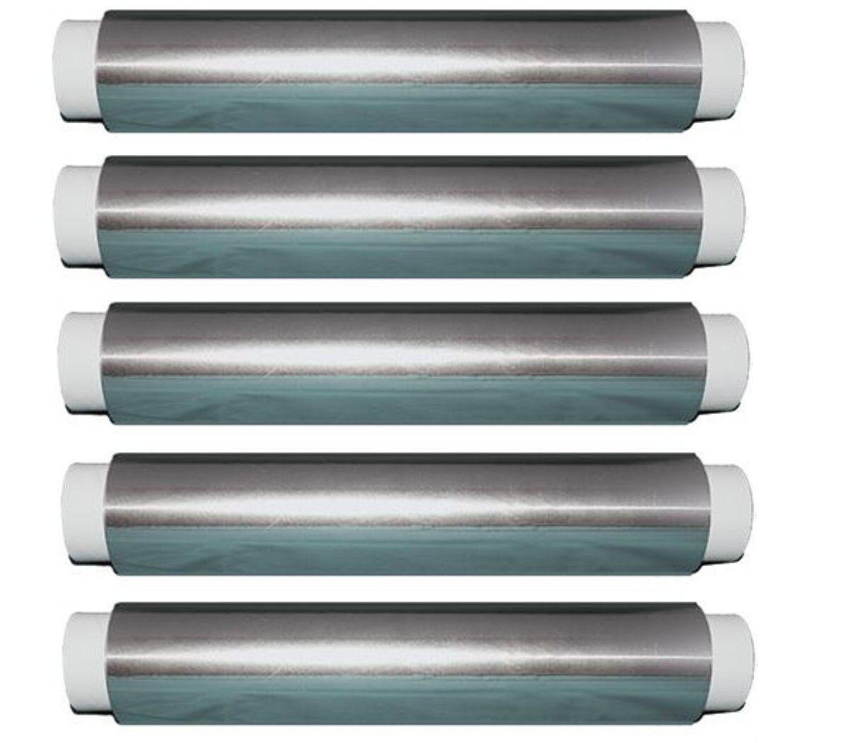 16 rouleaux de feuille d'aluminium 130 m x 30 cm 11μ Argent Chaque 130 m