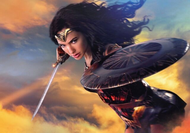 WONDER WOMAN Movie PHOTO Print POSTER Film Art Gal Gadot Diana Prince DC 017