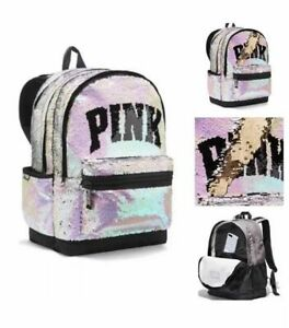 NEW Victoria/'s Secret PINK Sequin Bling Campus Backpack