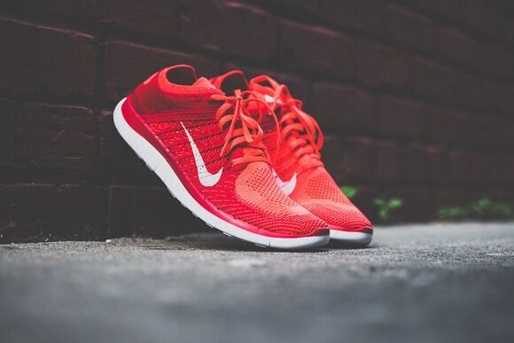 nike free 4.0 flyknit mens red