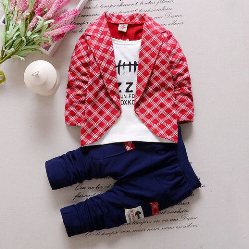2PC Toddler Baby Boys Clothes Outfit Boy Kids Wedding Party Suits Outfits Sets