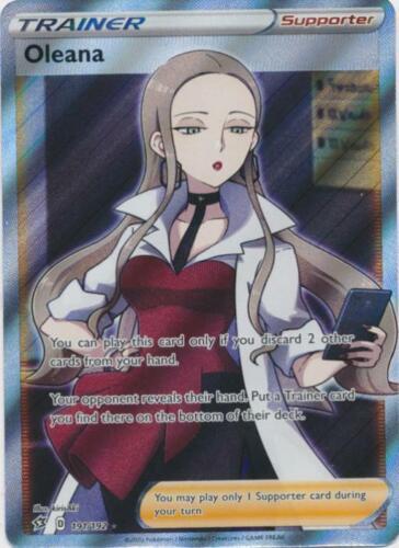 SWSH02-191 Oleana FULL ART Pokemon Rebel Clash Card # 191