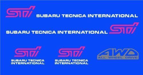 Auto-Tuning & -Styling Subaru Impreza WRX STI Sticker Turbo JDM ...