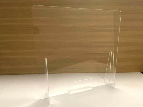 ProtectSano 80X60 Mampara protección metacrilato transparente con ventanilla