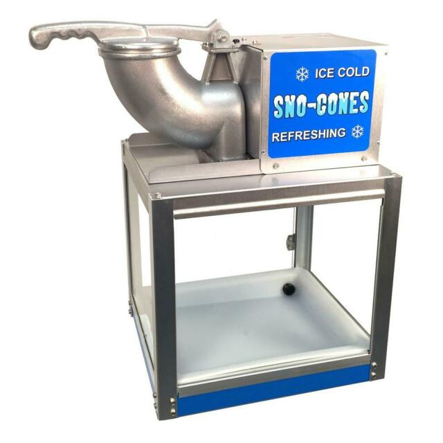 Snow Cone Machine 8000 fl. oz. Ice Crushing Button Countertop Stainless Steel