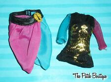 MONSTER HIGH SCAREMESTER GIGI GRANT DOLL OUTFIT REPLACEMENT SHIRT & SKIRT LOT