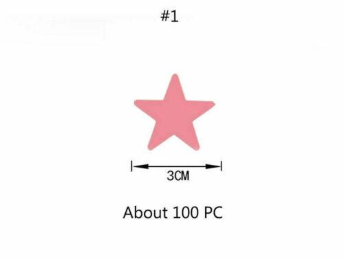 The In Room Moon Dark Stickers 100Pcs Glow Luminous Wall Star Kids Decor Star