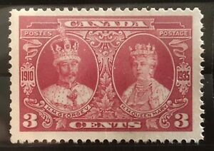 GORGEOUS 1935 CANADA 3 CENT KING GEORGE V & QUEEN MARY GEM STAMP EXTREMELY RARE!