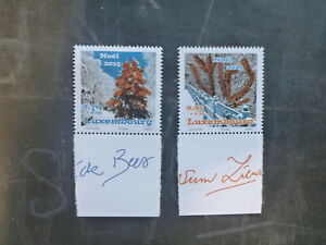 2015-LUXEMBOURG-CHRISTMAS-NOEL-SET-2-MINT-STAMPS-MNH