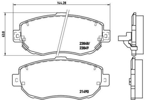 Beläge vorne für Lexus IS 1 Sportcross GS Brembo Sport Bremsscheiben Ø296mm