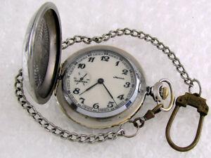 Molnija-Star-Great-Patriotic-War-WWII-Vintage-USSR-Russian-Men-039-s-Pocket-Watch