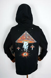 Huf Worldwide Hooded Pullover Hoodie Doomsday Triple Triangle Black in M