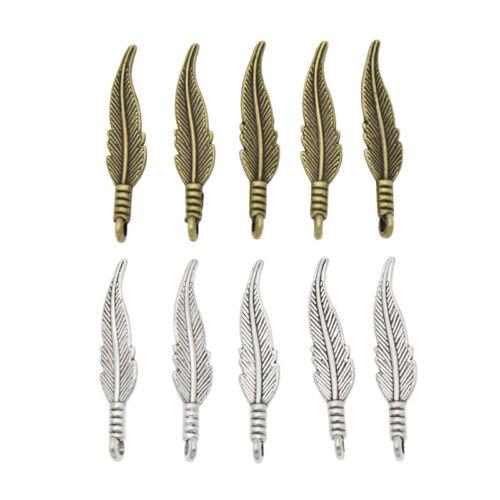 20//50 piezas colgante de plumas de 3D deja encantos hágalo usted mismo Accesorios de fabricación de joyas