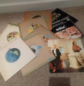 "Mixed Bundle Of 9 7"" Vinyl Records Various Artists- 60s 70s 80s Used"