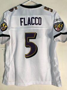 Reebok Women s Premier NFL Jersey Ravens Joe Flacco White sz S  96182e4bb9