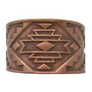 Solid-Copper-Ring-Southwest-Handmade-Western-Jewelry-Adjustable-Size-Band-New