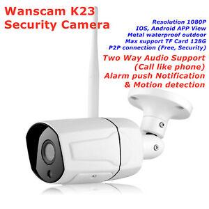 Wanscam K23 Outdoor Wireless Waterproof IP Security Camera Webcam HW0043 Upgrade