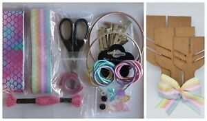 Hair-Bow-Making-Starter-Kit-ribbons-clips-hair-bands-templates-tools-grosgrain