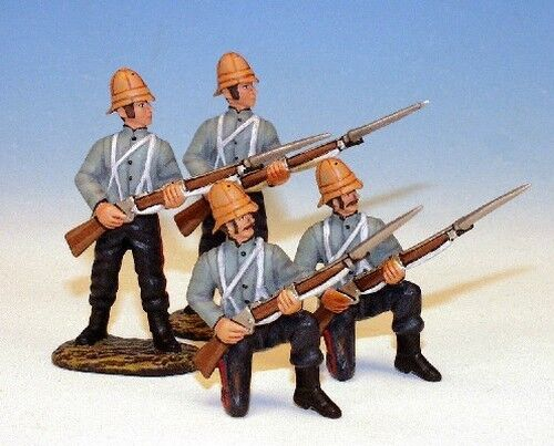 Frontline - Zulu War 24th Foot Regiment 2 Standing 2 Kneeling Shirt Sleeves 24F6