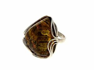 CERTIFIED-UNIQUE-BALTIC-AMBER-amp-925-STERLING-SILVER-RING-RG0597
