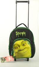 "Green Shrek 12"" Rolling Backpack Travel Small Boys School Toddler Wheeled Bag"
