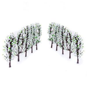 20pcs Flower Trees Model Train Park Scenery Scale 1:200