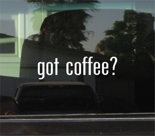 Vinyl Decal//Autocollant A Café