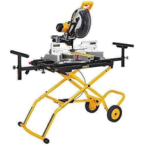 Sliding Miter Saw Stand Rolling Portable Folding Pneumatic Professional Adjust