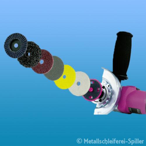 Eisenblätter Mini Fix Klett System Ø 60 mm Fächerschleifscheiben Schleifscheiben